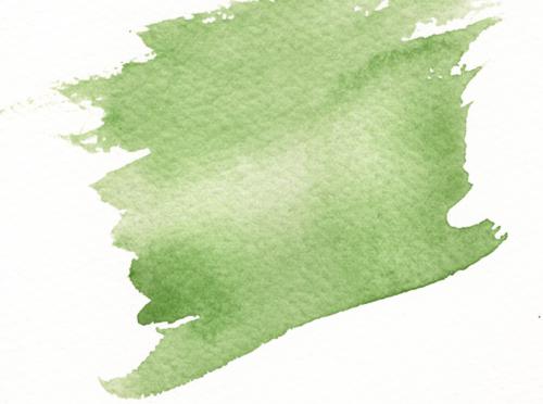 penseldrag grön